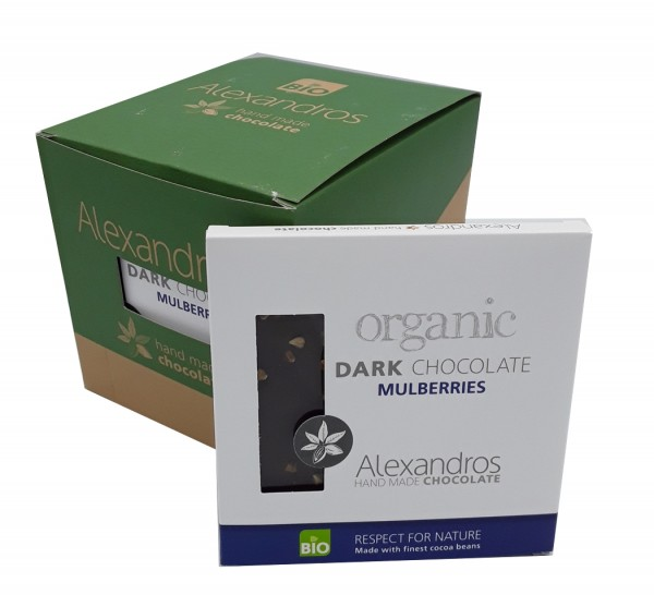 Organic Dark Chocolate Mulberries 12er Box