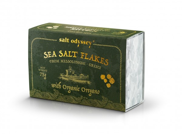 Sea SALT FLAKES mit BIO Oregano 75 g. Schachtel